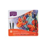 DERWENT ACADEMY COLOUR PENCILS - 24 LONG TIN BOX