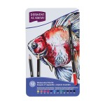 DERWENT ACADEMY WATERCOLOUR PENCILS - 12 LONG TIN BOX