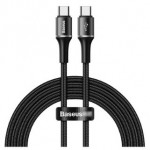 BASEUS CATGH-K01 TYPE-C TO TYPE-C PD CABLE 60W 2METRE BLACK