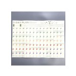 100Days Schedule Plan Paper Sheet(For Home&Office use) 51*37cm