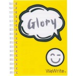 FOLDERMATE WEWRITE HI THERE SERIES SPIRAL NOTE BOOK A6 YELLOW