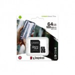 KINGSTON MICROSD 100MB/S MEMORY CARD 64GB