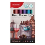 MONAMI 463 Deco Marker Set - Metallic