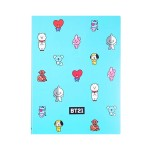 BT21 CLEAR FILE 20 PAGES 230*310MM (BLUE)