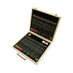 DERWENT ACADEMY COLOUR PENCILS WOODEN BOX SET 48'S