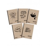 POP BAZIC LECTURE PAD A4 70GSM 70'S BROAD LINE 5IN1 PACK