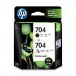 HP 704 COMBO PACK INK CART (F6V33AA)