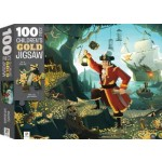 HINKLER CHILDREN JIGSAW PUZZLE GOLD PIRATE TREASURE 100PCS