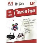 U8 A4 IRON LIGHT T-SHIRT TRANSFER PAPER (10sheets)