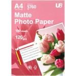 U8 A4 MATTE PHOTO PAPER 120GSM (100sheets)