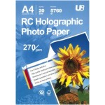 U8 A4 RC HOLOGRAPHIC PAPER 270GSM (20sheets)