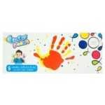 POP ARTZ FINGER PAINT BOX SET  8 COLOURS X 30ML