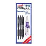 UNI Jetstream 101 Retractable Roller Ball Pen Value Pack 0.7mm Black