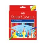 FABER-CASTELL TRI COLOUR PENCILS - 24 LONG