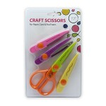 "POP ARTZ CRAFT SCISSORS 6.5"" 4 PIECES SET"