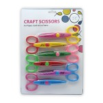 "POP ARTZ CRAFT SCISSORS 5.25"" 6 PIECES SET"