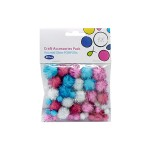 POP ARTZ GLITTER POMPOM 4 COLOURS 40 PIECES 40PC PA-KFE1301