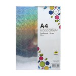 POP ARTZ HOLOGRAM CARD 250G SILVER 5 SHEETS