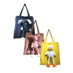 TOTE BAG WITH PLUSH TOY CHARM XLC6565