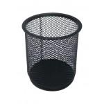POP BAZIC METAL MESH PEN HOLDER ROUND BLACK LD01-188-5