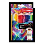 STABILO SWANS ARTY COLOURED PENCILS - 36 LONG