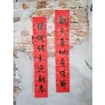 Handwritten CNY couplet 传统手写春联