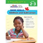 Grades 2 -3 Math Success Basic Skills: Additional And Subtraction