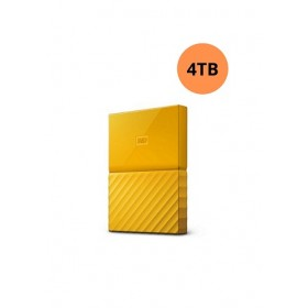WESTERN DIGITAL HARD DISK 4TB MY PASSPORT YELLOW