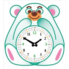 宝宝的时钟-可爱熊