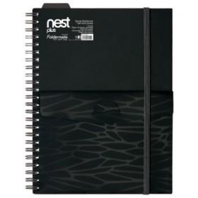 FOLDERMATE NEST SERIES SPIRAL NOTE BOOK A5 - BLACK