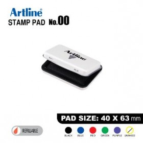 ARTLINE STAMP PAD NO.00 EHJ-1 EHJU-1 40x63mm Black