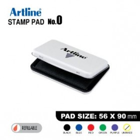 ARTLINE STAMP PAD NO.0 EHJ-2 EHJU-2 56X90mm BLACK