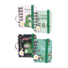 KEY CHARM WITH MINI NOTEBOOK - DINO TR-BC00812