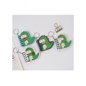 KEY CHARM WITH MINI NOTEBOOK - DINO TR-BC00824