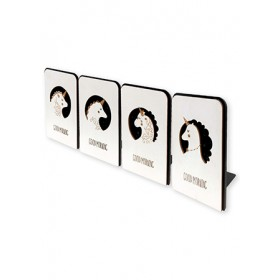 WOODEN BOOKEND 17*12.5*1.5CM SL-6242