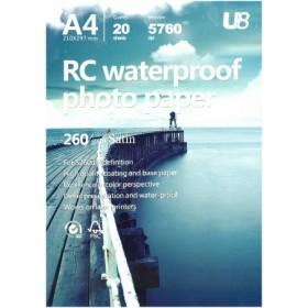 U8 A4 ROUGH RC PHOTO PAPER 260GSM (20sheets)