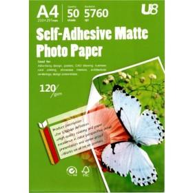 U8 A4 SELF-ADHESIVE P.PAPER 135GSM (50sheets)