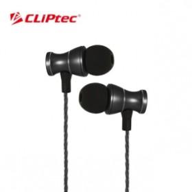 CLIPTEC BME801 MAGNETUCA METAL EARPHONE BLACK