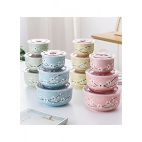 CERAMIC BOWL SET WITH LID 3IN1