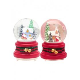CHRISTMAS CRYSTAL BALL SNOWHOUSE
