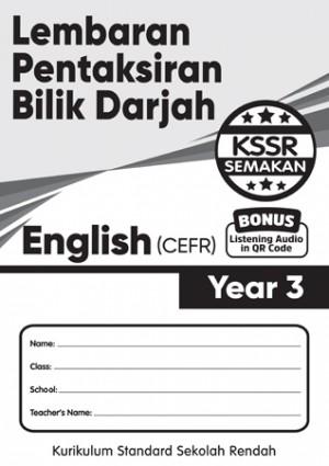 Tahun 3 Lembaran Pentaksiran Bilik Darjah English CEFR