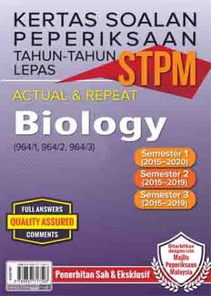Kertas Soalan Peperiksaan Tahun-Tahun Lepas STPM Biology Semester 1-2-3