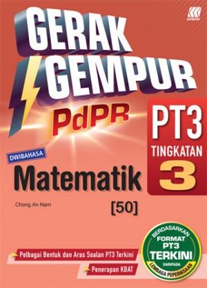 TINGKATAN 3 GERAK GEMPUR PDPR PT3 MATEMATIK(DWIBAHASA)