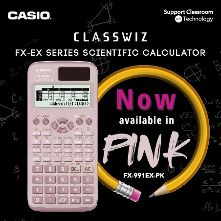 Stationery Bottom 29 - Casio Scientific Calculator - Fx-991EX Pink