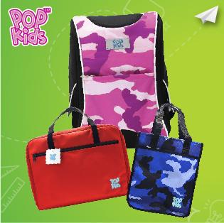 Stationery Bottom 18 - POP Kids School Bag / Tuition Bag / Art Bag